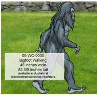 Bigfoot Walking Yard Art Woodworking Pattern