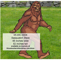 Sasquatch Stare Yard Art Woodworking Pattern