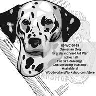 Dalmatian Dog Intarsia or Yard Art Woodworking Pattern