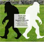 8ft Tall Sasquatch Yard Art Woodworking Pattern