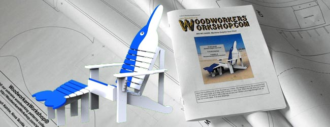 Maritime Dolphin Sun Chair Woodworking Pattern