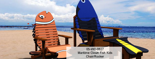 Maritimes Clown Fish Kids Chair Rocker Combo Woodworking Plan