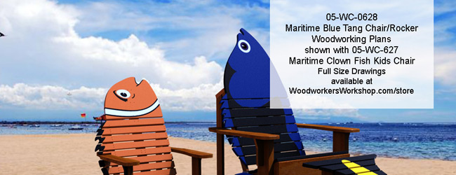Maritimes Blue Tang Chair Rocker Combo Woodworking Plan