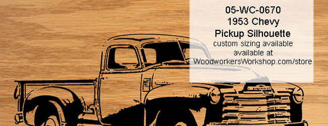 1953 Chevy Pickup Truck Scrollsaw Silhouette PDF