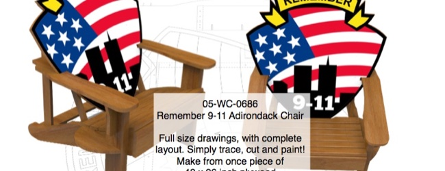 Remember 9-11 Adirondack Chair