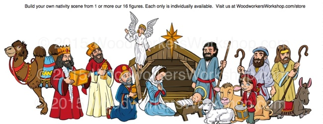 Christmas Nativity Color Prints