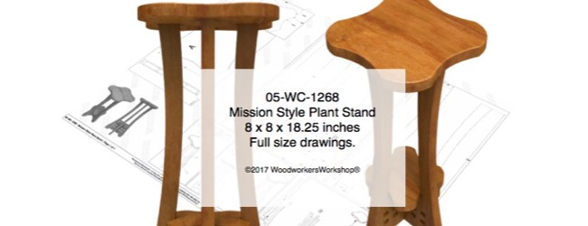 Mission Style Plant Stand