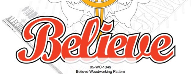 Believe Yard Art Woodworking Pattern