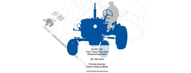 Farm Tractor Team Blue Yard Art Woodworking Pattern