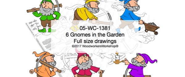 6 Gnomes in the Garden