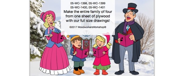 Christmas Caroler Family Yard Art Woodworking Pattern