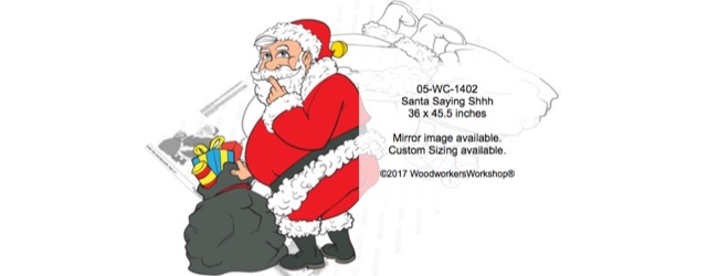 Santa Saying Shh Woodworking Pattern