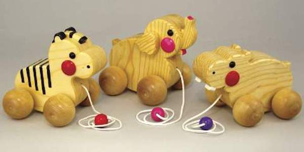 Trio of Animal Pull Toys Woodworking Plans