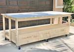 Workbench With Storage Drawers