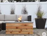 Outdoor Coffee Table With Fire Pit Or Cooler