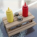Picnic Table, Condiment - miniature