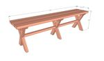 X Picnic Table Bench