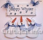 Happy Winter Snowman Sign