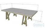 Truss Leg Dining Table