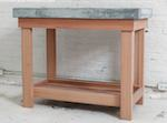 Wood and Concrete Kitchen Island