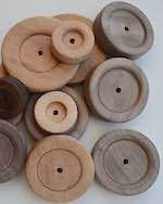 Wooden Wheels for Toys