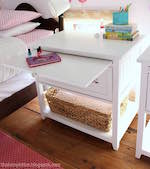 Nightstand with Pull Out Ledge