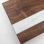 Cutting Board with Marble Inlay