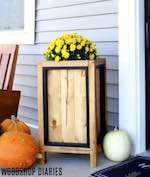 Planter Box With Black Accents