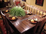 Dining Table from Salvaged Lumber