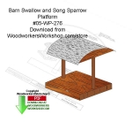Barn Swallow and Song Sparrow Platform Woodcraft Downloadable PDF