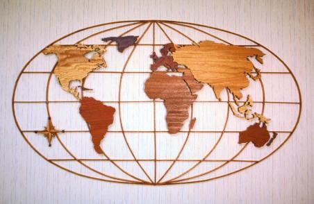 World Map Woodworking Plan.