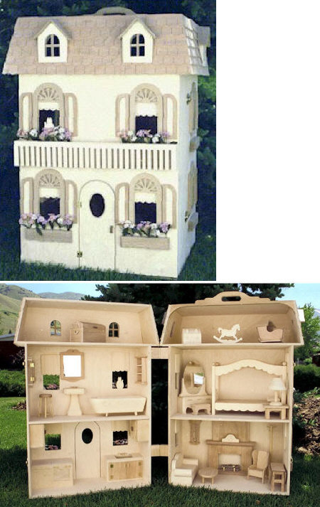 Barbie Doll House Woodworking Plan.