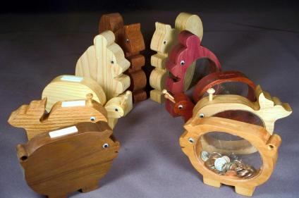 Wooden Banks Woodworking Plan Set - 5 designs included.