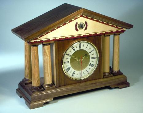 Italian Mantel Clock Woodworking Plan.