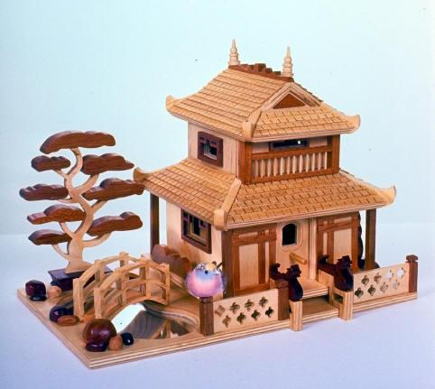 Pagoda Birdhouse Woodworking Plan