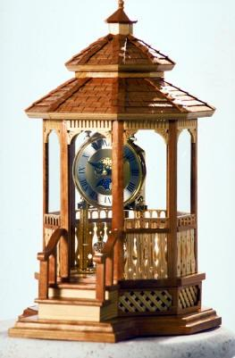 04-FS-132 - Gazebo Mantel Clock Woodworking Plan
