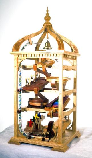 04-FS-133 - Marble Machine, Bell Tower Woodworking Plan.
