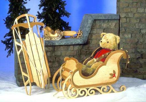 Sleigh and Sled Woodworking Plan.