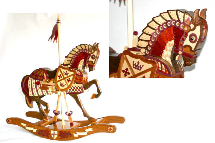 Rocking Horse, Armor Woodworking Plan.