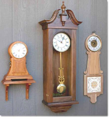 Mantle Clock, Wall Clock and Banjo Clock Woodworking Plans Set of 3