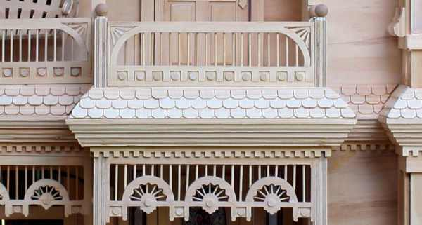 Victorian barbie doll house woodworking plan for Victorian doll house plans