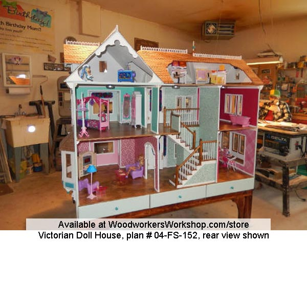 Victorian Barbie Dollhouse Woodworking Plans