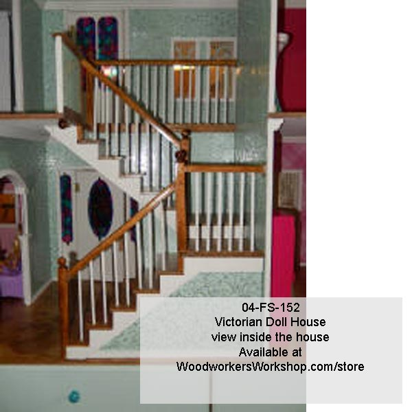 Victorian barbie doll house woodworking plan house for Victorian doll house plans