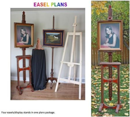 04-FS-154 - Four Easels and Display Stands Pack of Woodworking Plans.