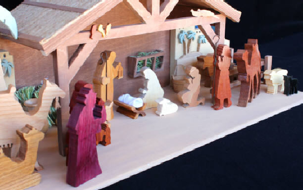 3D Holiday Nativity in Wood Scrollsaw Woodworking Plan.
