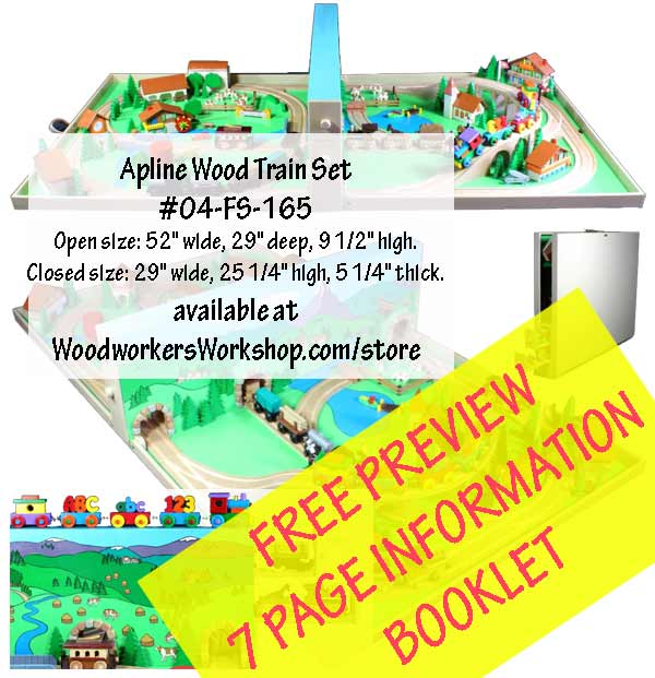 Alpine Wood Train Set Information Booklet