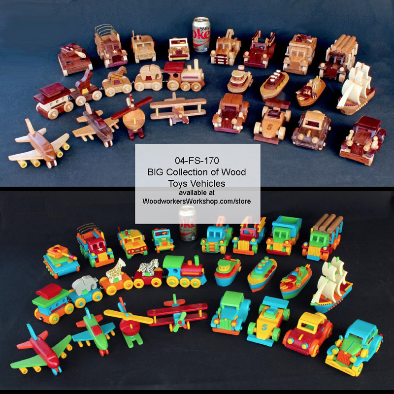 04-FS-170 - Plump-n-Tuff BIG Collection of Toys Woodworking Pattern Set.
