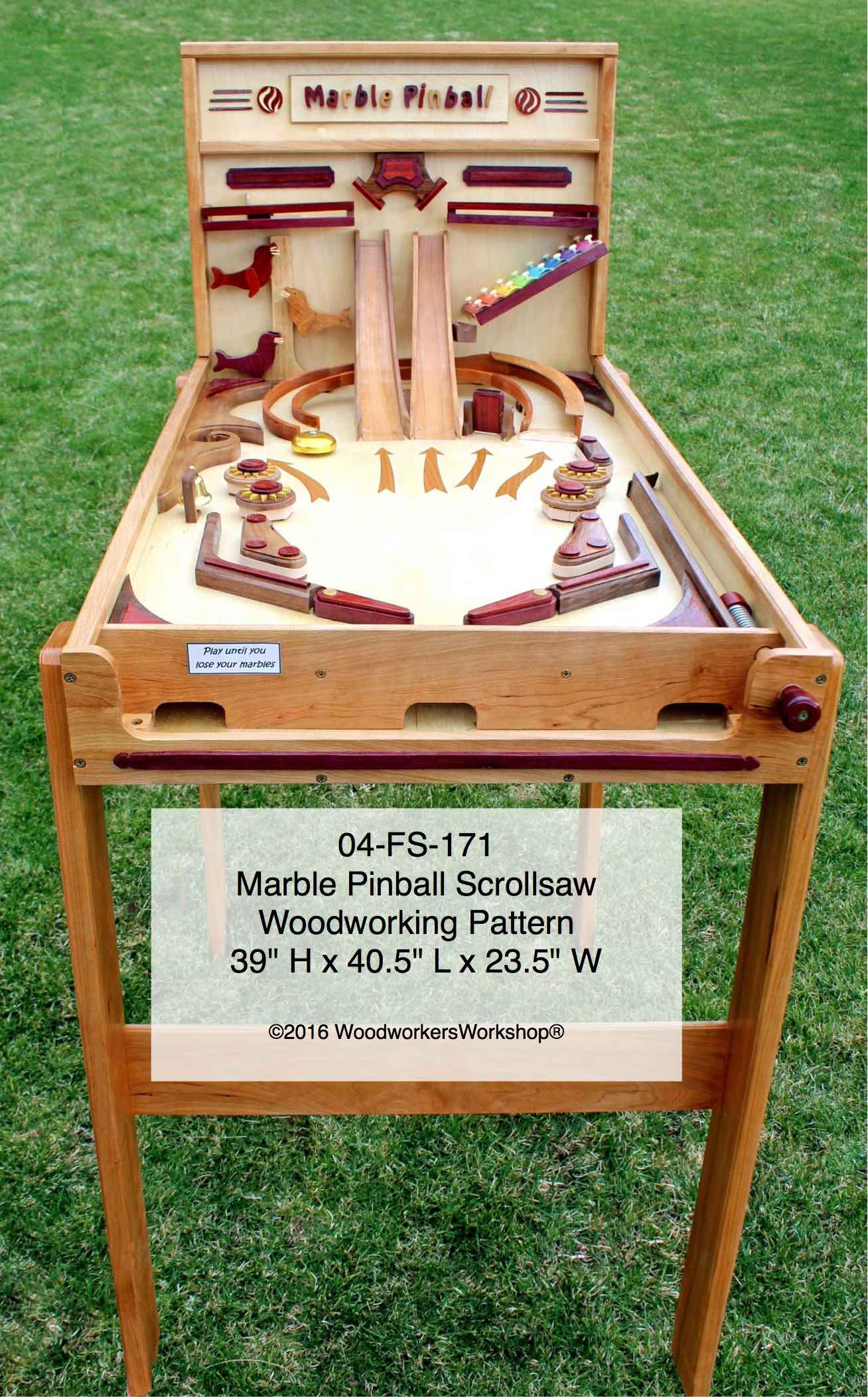 Marble Pinball Machine Scrollsaw Woodworking Plan woodworking plan