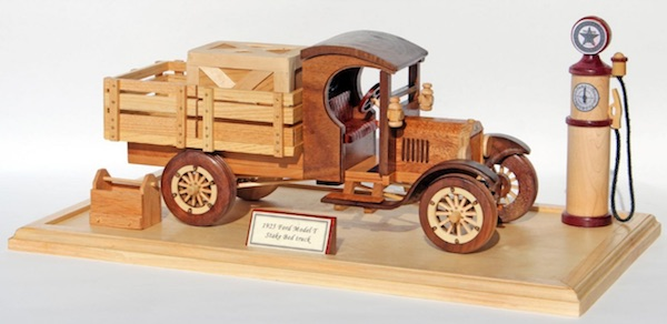Wooden Toy Train Patterns : Ford model t truck woodworking pattern