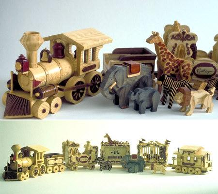 Circus Train Woodworking Plan.